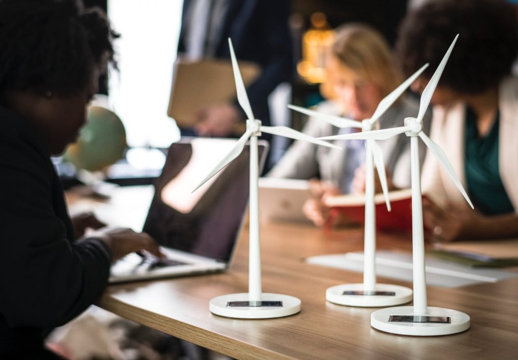sustainable tech in office